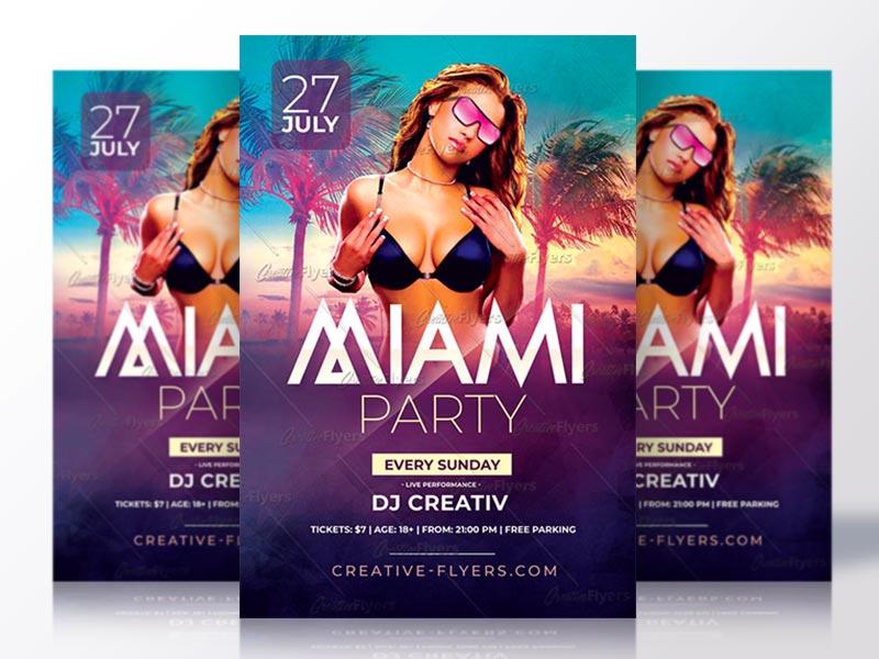 Summer Party Flyer summer flyer psd flyer invitation psd summer poster psd templates flyer templates creative flyer summer psd flyer party