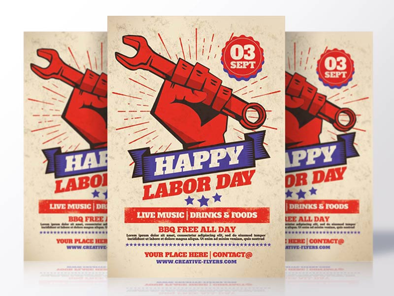 Labor Day Flyer By Rome Creation Dribbble Dribbble