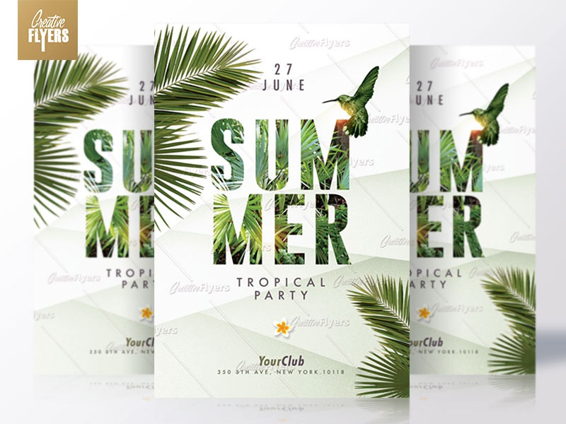 Summer Flyers | Tropical Party flyer party summer psd creative flyer flyer templates psd templates summer poster invitation psd psd flyer summer flyer