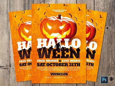 Halloween Flyer Template By Rome Creation Dribbble Dribbble