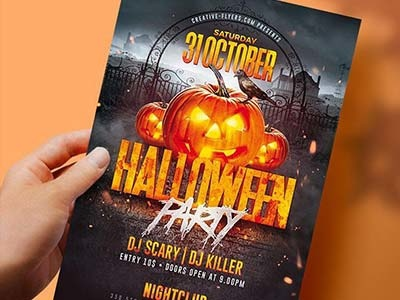 Halloween Party Flyer flyers posters october affiche printable print design advertising creative graphicsdesign halloween graphics party flyer halloween party halloween party flyer