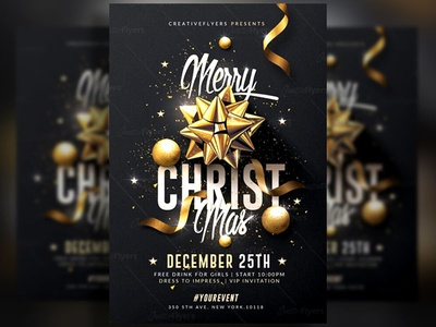 Christmas Contest Flyer.Elegant Christmas Flyer By Rome Creation On Dribbble