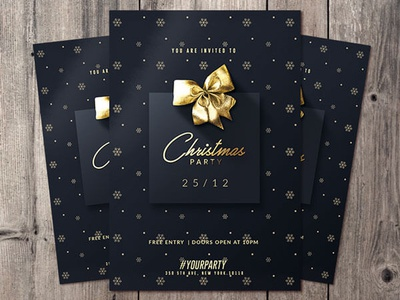 Christmas Invitation Card By Rome Creation On Dribbble