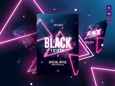 Black Friday Flyer Template by Rome Creation on Dribbble