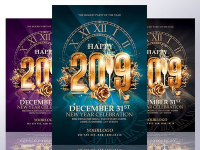 new year flyer template psd invitation invitation cards invitation design invitation card new year 2019 new