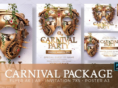 Carnival Party Package Psd by Rome Creation on Dribbble