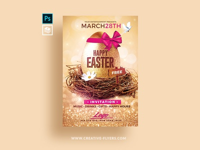 Easter Invitation Psd