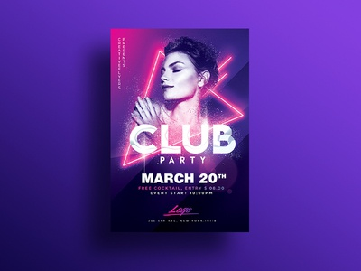 Club Party Psd Flyer lights shape photoshop music party dancing dance perfect beauty fashion party neons invites nightclub party flyer psd flyer graphic design flyer templates flyer psd club party flyer