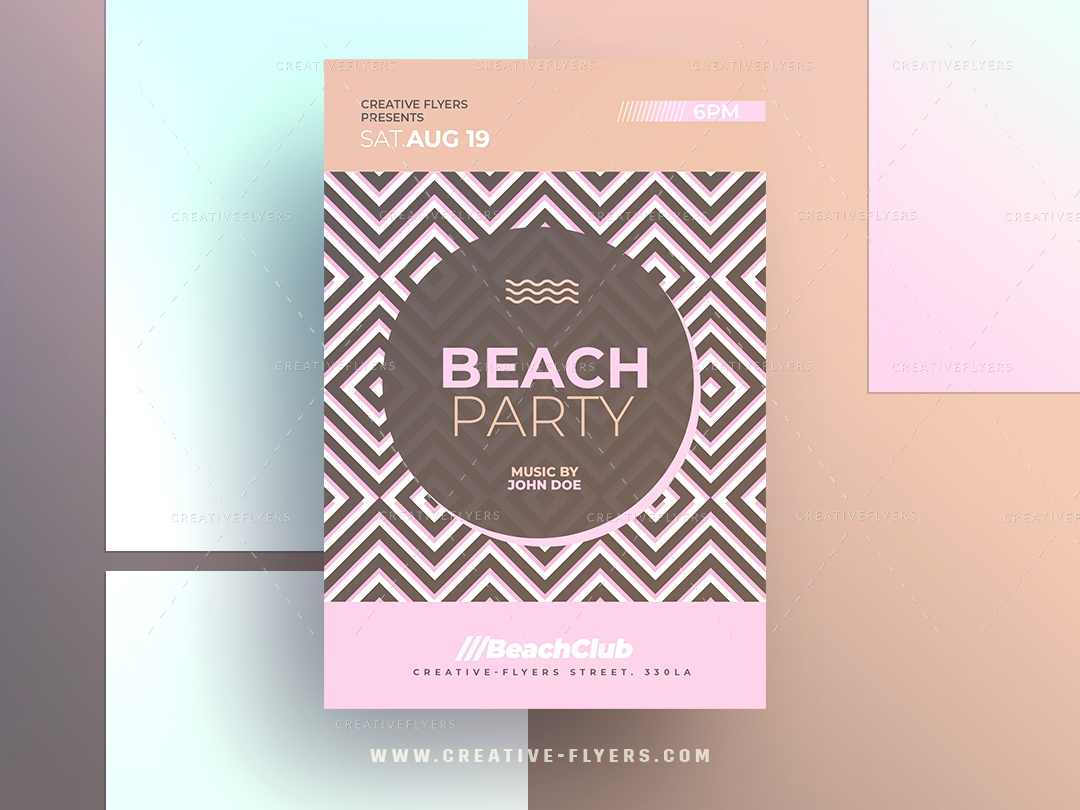 Beach Party Invitation By Rome Creation On Dribbble