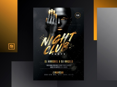 Black and Gold Posters golden brush dark photoshop template party invitation party poster gold effects creative affiche invitation club design party flyer psd flyer photoshop graphics  design posters black and gold