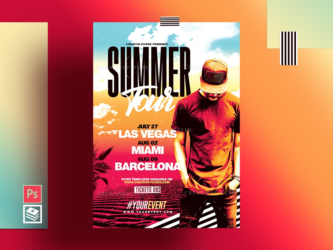 Summer Flyer & Poster Template by Rome Creation on Dribbble