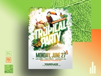 Tropical Psd  Flyer Template