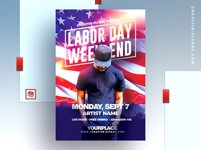 Labor Day Party Flyer Template usa american flag psd files adobe photoshop printable cards cards design holiday card national day graphics graphicdesign print art printable laborday labor day invitations labor day party flyer psd flyer graphic design photoshop flyer templates