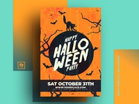 Halloween Party Invitation PSD