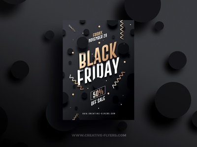 Black Friday Flyer Template flyers psd photoshop invitations invites commercial branding black friday graphics black cards november black and gold flyer templates prints black friday