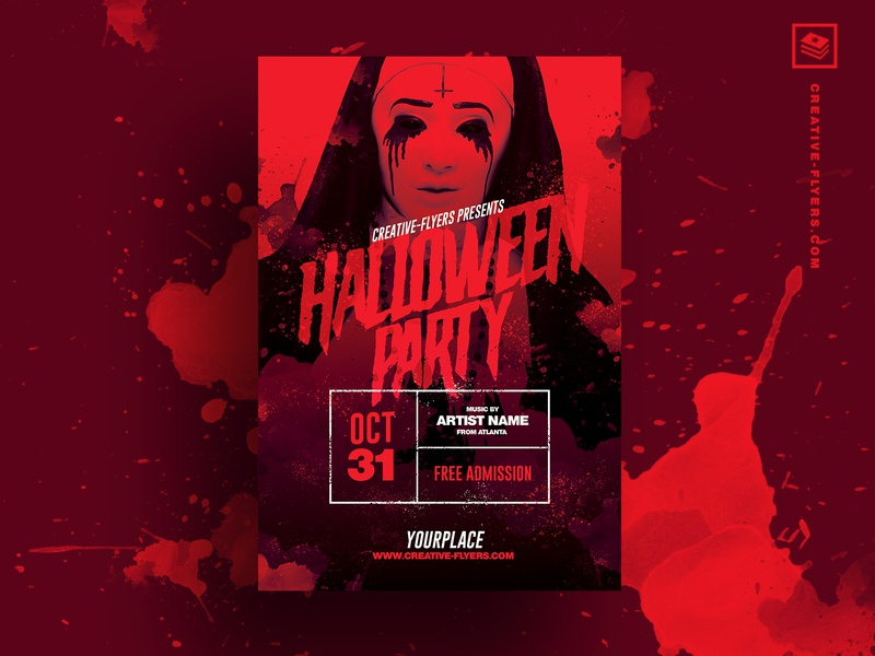 Halloween PSD Template halloween design october pass horror blood adobe invites invitations posters halloween carnival free psd download photoshop  psd rec cards num red halloween party halloween flyer