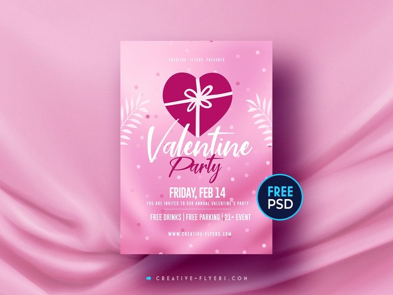 Valentines Day | ‎Free Flyer PSD invites adobe photoshop photoshop graphic design flyer psd free download free flyer free psd pink love cards valentinesday valentine day flyer templates valentine
