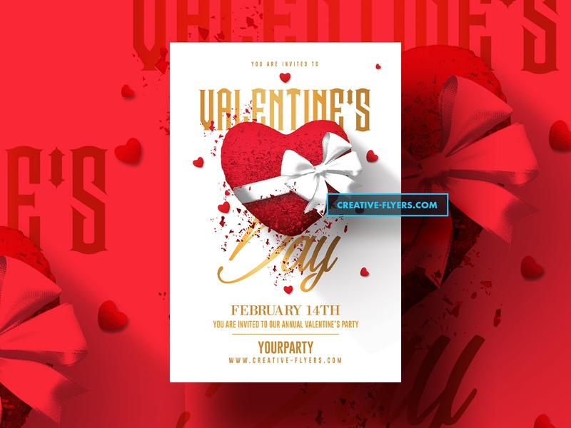 3 Valentines Day Flyers PSD creativeflyers romecreation adobe red love cards vday valentines day card valentines day invites design party flyer psd poster creative psd flyer graphic design photoshop flyer templates
