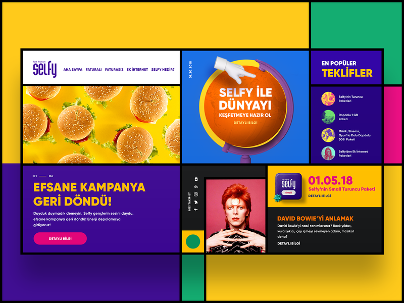 Concept Website for Selfy 🎉 figma sketch mobile website concept website design website web ui design ui  ux ui uxdesign uxui ux