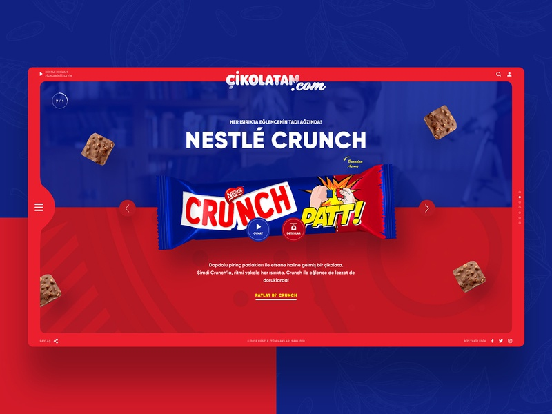 Concept Website for Crunch Türkiye - cikolatam.com figma sketch mobile nestle website dec85 chocolate ui design uxdesign ux design ux  ui ui ux