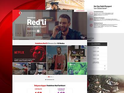 Vodafone Red canpolat burak business dec85 landing page corporate web deisgn web telecom website vodafone ux ui red design