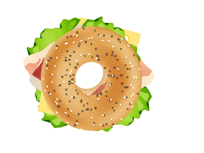 bagel sandwich by valentina tosto dribbble rh dribbble com Bite the Bagel Clip Art Bagel with Cream Cheese Clip Art