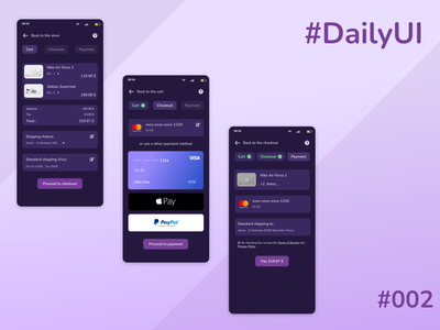 Daily UI #002 Checkout