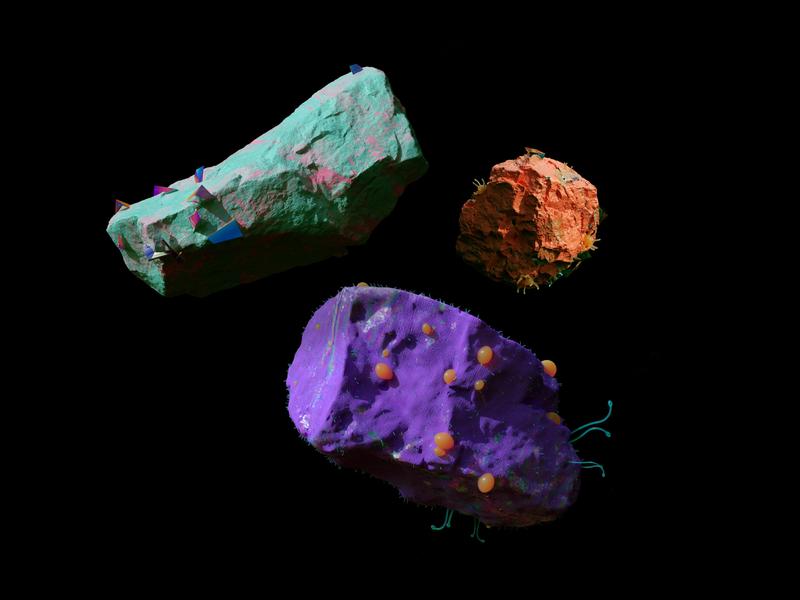 Alien rocks space alien rocks cgi c4d