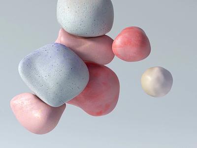 Touchy-feely stones cgi cinema4d motion design collision stones motion c4d