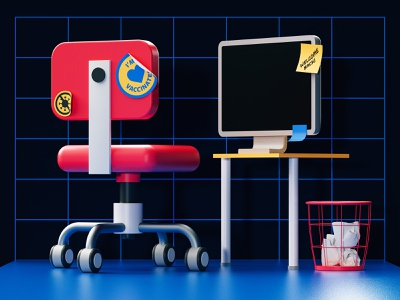 Workplaces after Covid19 90s workplace hbr editorial c4d