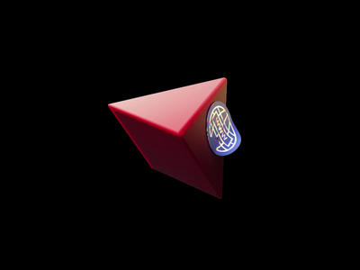 Pyramid sticker dystopian scifi pyramid render design cgi cinema4d illustration c4d