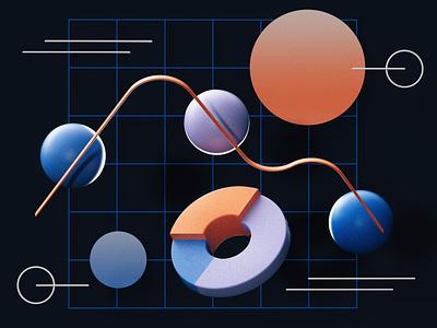 Data-stories information graphics data design cinema4d illustration c4d editorial