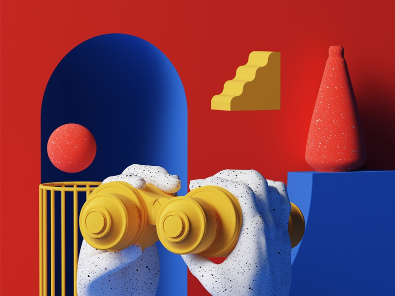 Grand format illustration editorial c4d