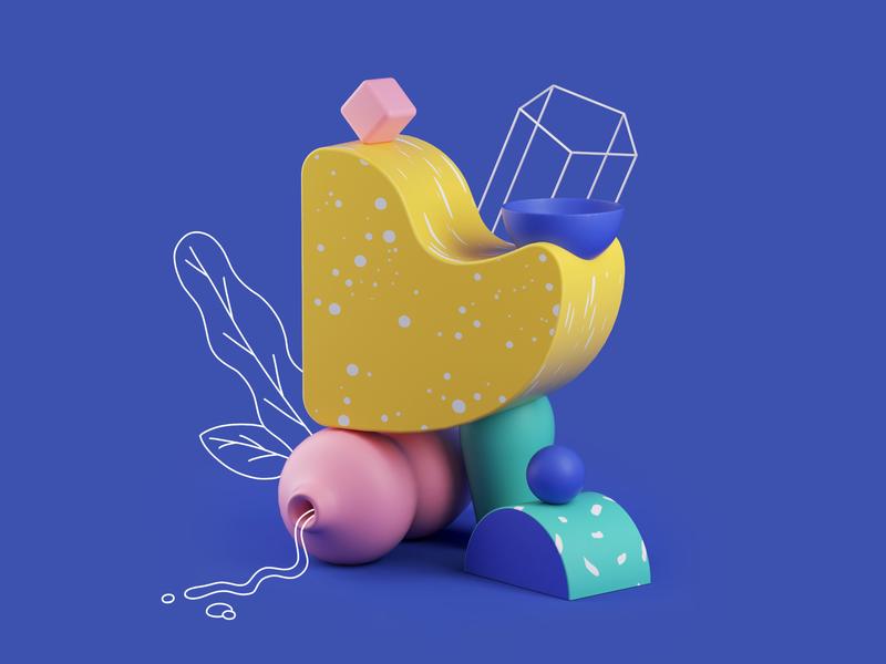 Fauna cinema4d illustration design render c4d