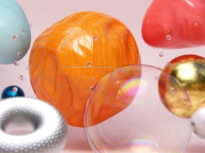 Spheres shaders render cinema4d c4d
