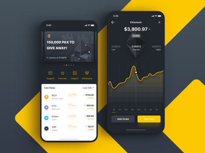 Binance app financial app fintech binance ux  ui statistic mobile ios crypto charts blockchain wallet cryptocurrency app bitcoin