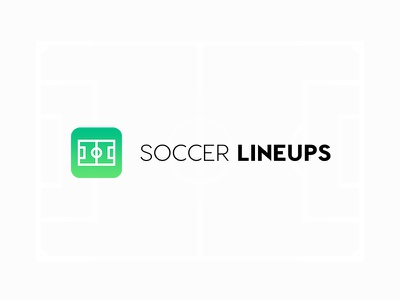 Soccer Lineups app logo and icon android sport line identity design ui icon logo app soccer