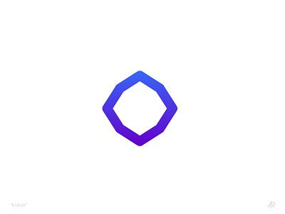 cube creative violet blue test gradient color branding identity design logo cube