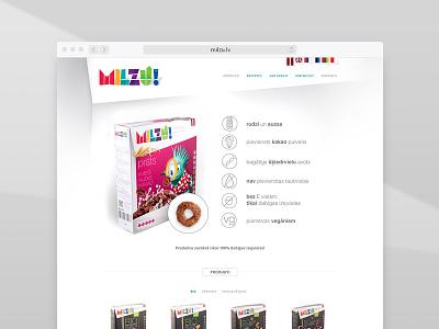 Milzu cereal - landing page milzu color kids food product identity design web page landing