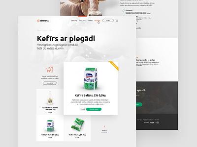 almost milk milk product shop identity commerce e design web