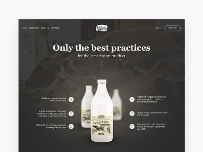 almost milk v2 presentation dark cows milk product shop identity commerce e ui design web