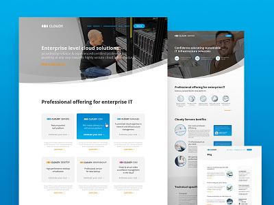 Cloudy identity design web servers cloud virtual cloudy