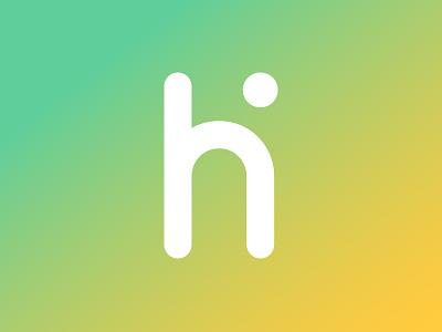 hi identity app brand mark letter system grid logo