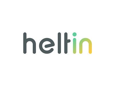 heltin in health identity app brand mark letter system grid logo