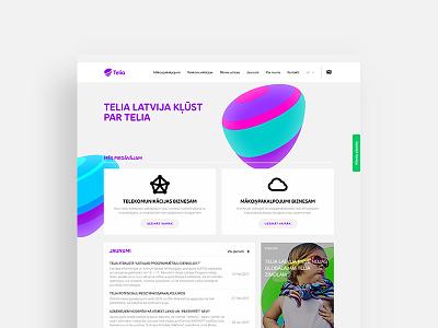 Telia Latvia pebble colorful rebrand coorporate design web latvia telia