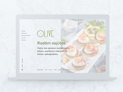 Olive Restaurant blue marble green olive food design page web restaurant