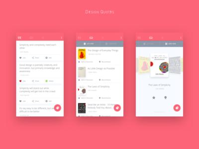 Design Quotes App Concept