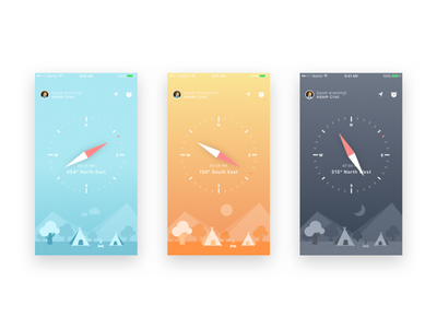 Compass UI and iphone wallpapers freebie time directions dial travel compass weather ios wallpaper