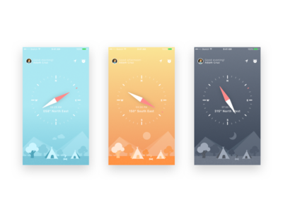 Compass UI and iphone wallpapers freebie