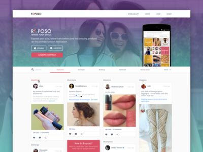 Roposo Home Page